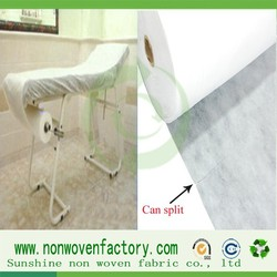 nonwoven disposable material for use in massage practices