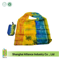Full color printed nylon tote bags fashion promotional shopping bags Storage foldable bags