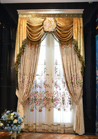 High luxury jacquard velvet curtains