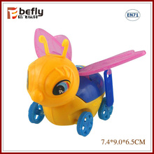 Baby funny plastic bee pull back animal toy