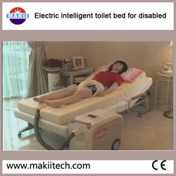 automatic toilet aid system for bedridden persons