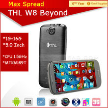"In stock 5"" MTK6589T Quad Core Android 4.2 Jellybean Phone 1GB RAM 16GB ROM dual camera phone Original THL W8 Beyond"