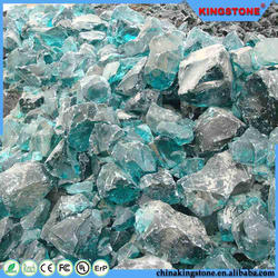 Good quality 1 mm and up to 100cm colorful garden glass rock for sale
