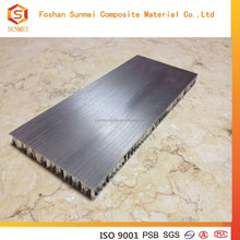 Aluminum Honeycomb Panel of Brushed Stainless Steel Look