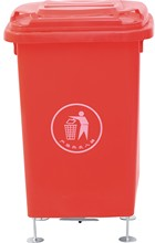 waste container with stands 50l/dustbin for square public/hot style for us