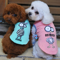 Wholesale Breathable Pet Dog Clothes Cartoon Big Eyes Cotton Dog vest 2015 New