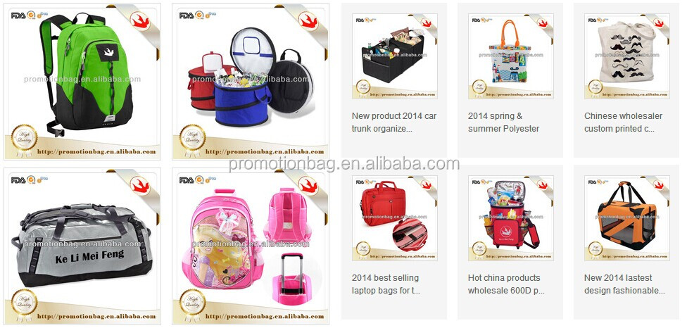 Fashion travel custom athletic bags with bottle bag