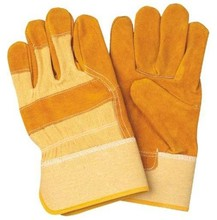 CE EN388 Cow Split Leather Palm Working Gloves Drill Cotton Back Industrial Comfortable Safety Gloves