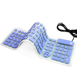 Factory tablet pc & mobile phone wire soft keyboard waterproof mute laptop desktop silicone keyboard