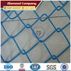 blue vinyl coated chain link fence
