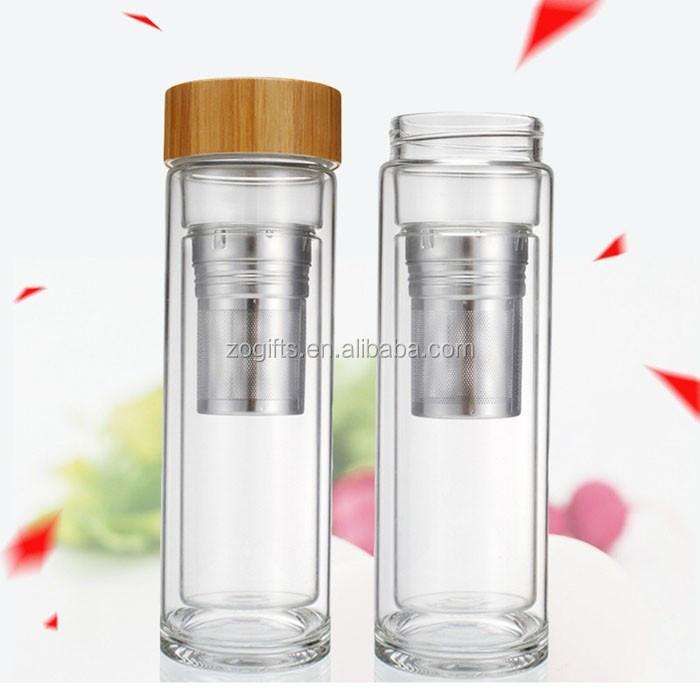 zogift personnalis bpa livraison d 39 eau en verre bouteille de th infuseur d sintoxication. Black Bedroom Furniture Sets. Home Design Ideas
