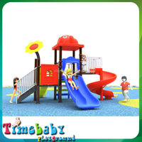 Kid's Plastic Amusement Structure, Used Outdoor Playground Equipment for sale