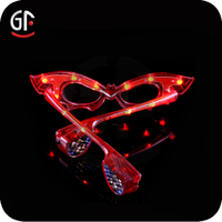 Promotion Gifts Led Heart Shaped Party Glasses
