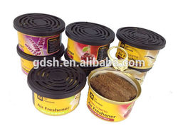 scented solid wood can air freshener for promotion / air freshener for air conditioning for office and car
