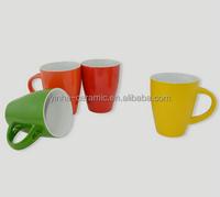 11oz color glazed ceramic coffee mugs for gift