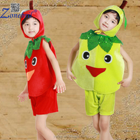 tropical Cute apple Banana fruit Cosplay Costumes for boys On Halloween Carnival Days For Kids