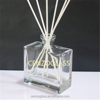 flat square reed diffuser glass bottle 180ml (ZB965)