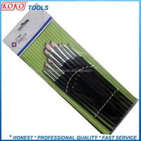 12pcs polybag card packing soft hair wood handle artist make up brush set