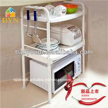 Baoyouni 2- nivel plasticmicrowave carrito de cocina microondas stand 1210