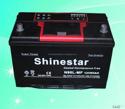 12V high quality 90ah used car and truck batteries OEM Service available