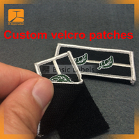 Custom embroidered t-shirt velcro patches for clothing