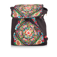 2014 fashion bags for ladies woman genuine leather embroidery backpack for wholesale