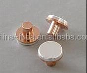 AgNi10/Cu electrical silver rivet with Cu