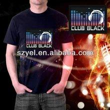 music dancing earphone equalizer el tshirt / led tshirt