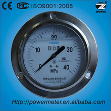 "100mm 4"" lower back with flange stainless steel case oil tank pressure gauge"