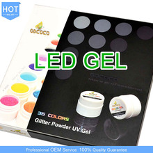 Hot 36 Color Glitter Powder GDCOCO Soak off UV/LED Gel System, Nail Art LED Gel Laquer Kit,China CANNI Factory #3689B-01X