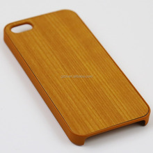 Hard cavity plastic wood grain effect skin phone cover for phone 5 5s