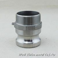 Stainless Steel/Aluminum/Polypropylene PP/Nylon/Brass Camlock Coupling Male Hose Shank Camlock Adapter (Type F)