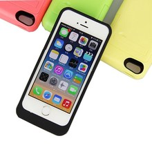2200mAh Quick Charging Rechargeable Power Bank External Battery Case Cover for Apple iPhone 5 5c 5s 6