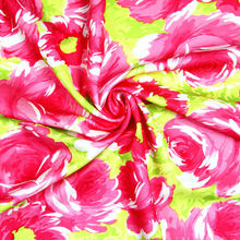 2014 goat print fabric printed satin fabric