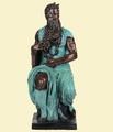 bronce estatua antigua Moisés