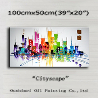 New Craft Pictures Wall Paintings Home Decor Pictures Canvas Abstract Handmade Oil Painting