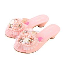 2015 children shoes wholesale fashion girl elegant pearl sandal shoes kids high heel sandals