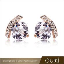 OUXI Fancy design candy jewelry 18k plate gold earring models