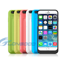 Fashionable 3500mAh Power Backup Battery Charger Case with front leather cover for iphone 6 4.7""