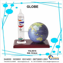 hot sales ! good quality smooth surface earth globe with thermometer as teaching tool or decoration & gifts