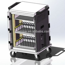 ZMEZME 20 bays school laptop storage charging cart for educational equipment,tablet mobile safety learning charging cart