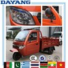 Africa motorized closed cabin cargo motorcycle made in China