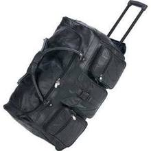 "Trolley Embassy Italian Stone Design Genuine Leather 25"" Trolley/Tote Bag"