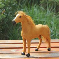 small lifelike realistic the simulation plush life size leather horse