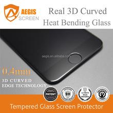 for iPhone 6 3d screen protector, heat bending tempered glass screen protector for iPhone 6 6s 7