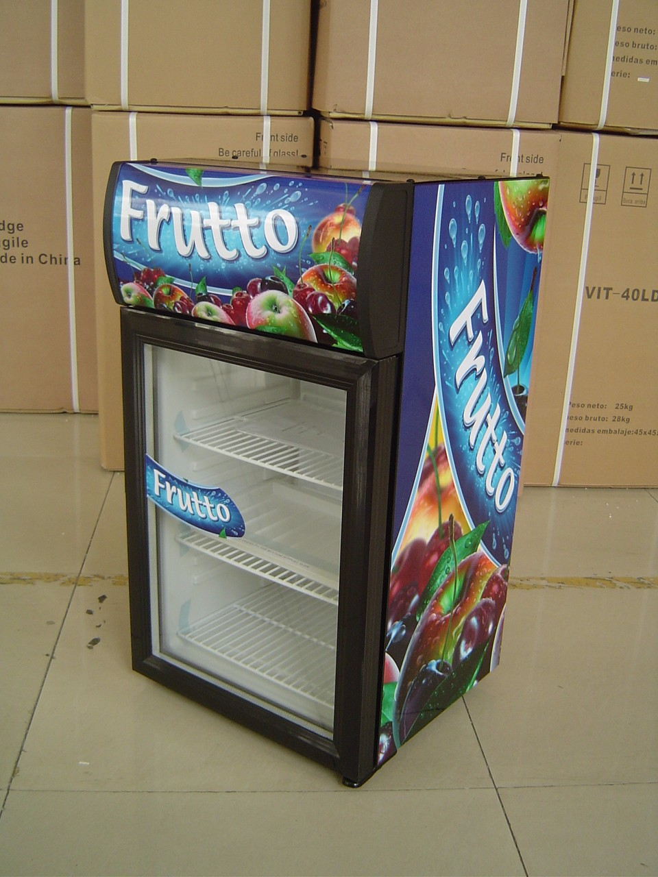 Commercial Upright Freezer With Glass Door Upright Ice Cream Freezer