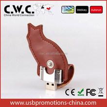 2gb 4gb 8gb flash drive leather animal shape USB Flash Drive