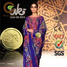2014 new design abaya dress clothing metal 3d logo