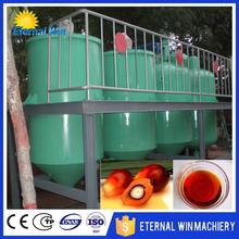 New design ISO CE small scale palm oil refining machinery / small scale crude oil refinery