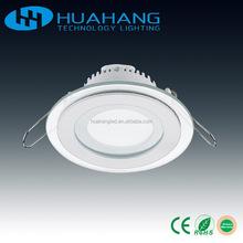 glass LED down light AC85-265V 6w 12w 18w led glass panel light round square dimmable led panel light